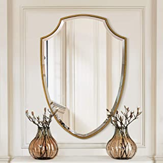 Large Wall Mirror Handmade Clear Mirrors (Shield Shape 25