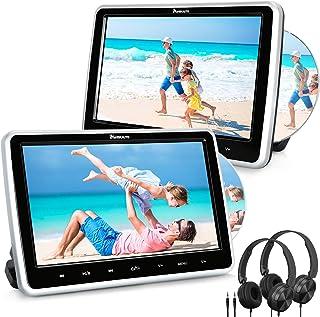 "NAVISKAUTO 10.1"" Dual Car DVD Players with HDMI Input 2 Headphones Mounting Bracket Support Last Memory Region Free(2 Head..."