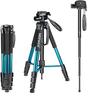 Neewer taşınabilir alüminyum alaşım tek ayaklı kamera sehpa 177santimetre mit 3-yollu döner mafsal Schwenkkopf, taşıma çantası Canon Nikon Sony DSLR kamera için video kamera, taşıma kapasitesi 4kilogram 23.5 x 4.5 x 4.5 inches 10090794