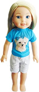 Brittany's My Maltese Dog Outfit Compatible with Wellie Wishers, Glitter Girl Dolls and Hearts for Hearts Dolls