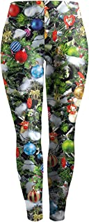 Women's Digital Print Funny Christmas Leggings Stretchy Active Tights