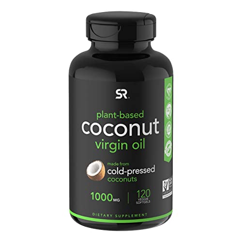 Extra Virgin Organic Coconut Oil Capsules | The Only Vegan Certified, Non-GMO Project Verified Coconut Capsule Available (120 Plant Gels)