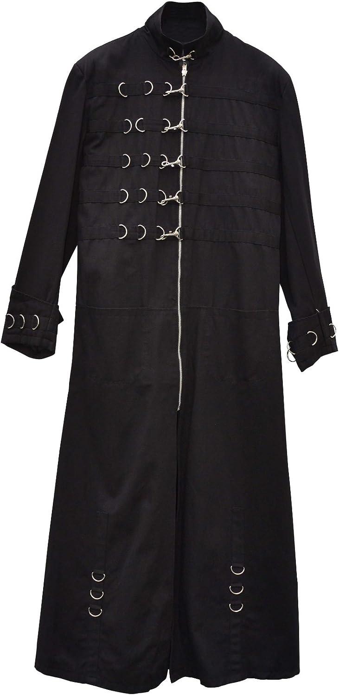 Zoelibat 32008706.008S  Herren Gothic Steampunk Mantel mit rmelmanschetten - wadenlang,  Gro S, schwarz