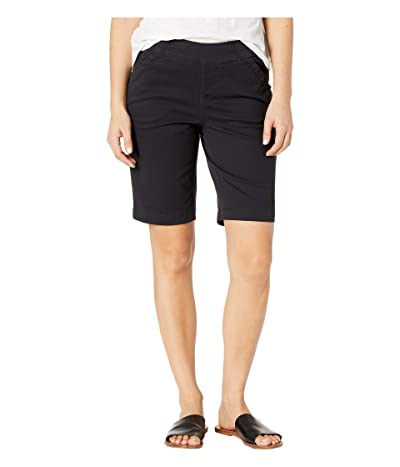Jag Jeans Petite Gracie Pull-On Bermuda Shorts (Black) Women
