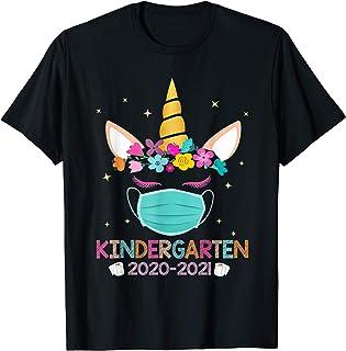 Quarantine Unicorn Kindergarten 2020 School Social Distance T-Shirt
