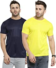 AWG ALL WEATHER GEAR Men's Polyester Round Neck T-Shirts - Pack of 2