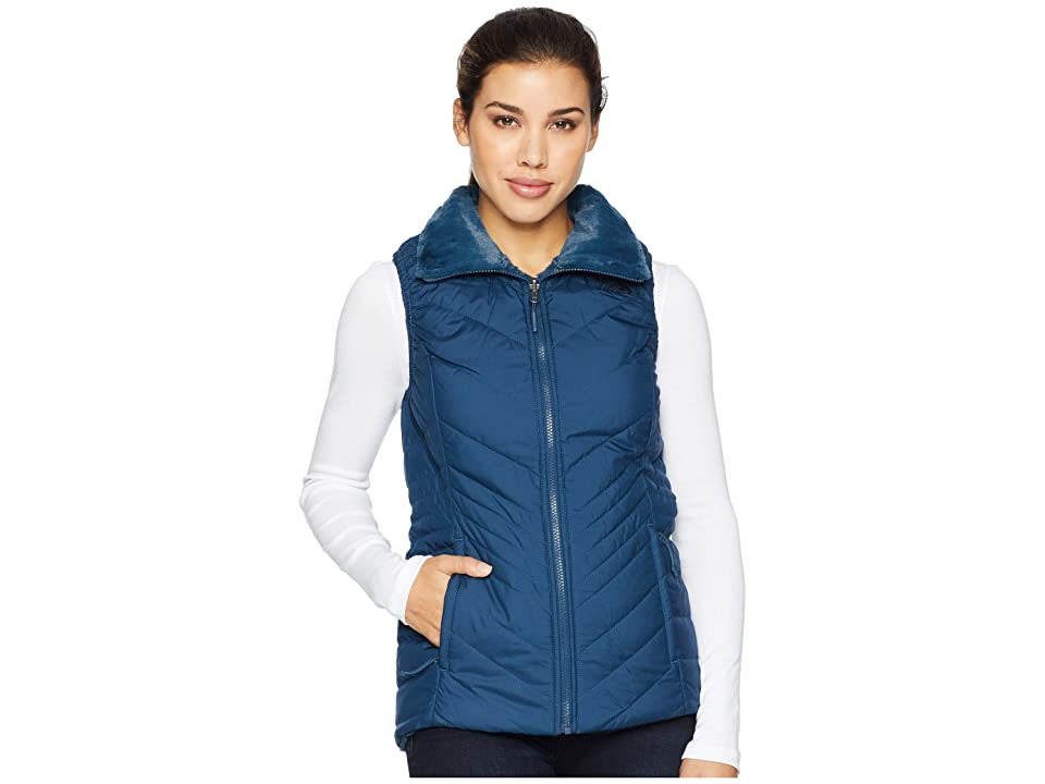 The North Face Mossbud Insulated Reversible Vest (Blue Wing Teal) Women
