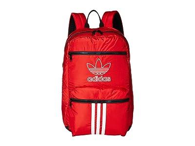 adidas Originals Originals National 3-Stripes Backpack (Scarlet) Backpack Bags