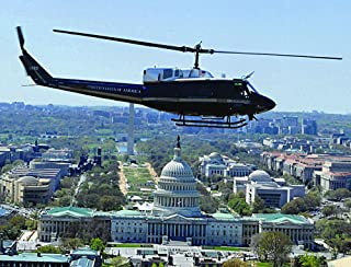 Home Comforts A 1st Helicopter Squadron, 316th Operations Group UH-1N Huey Flies by The U.S. Capitol in Washington Vivid Imagery Laminated Poster Print 24 x 36