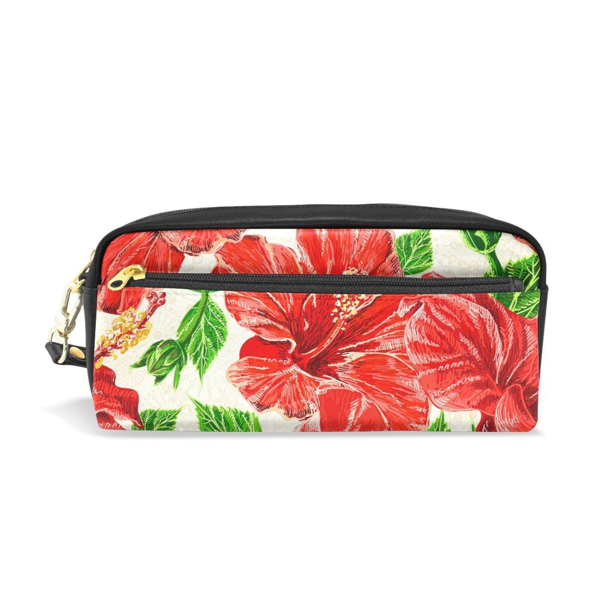 Ahomy - Estuche para lápices de acuarela, diseño de flores hawaianas con doble cremallera, tamaño grande, para guardar cosméticos y artículos de papelería, para niñas y niños: Amazon.es: Oficina y papelería