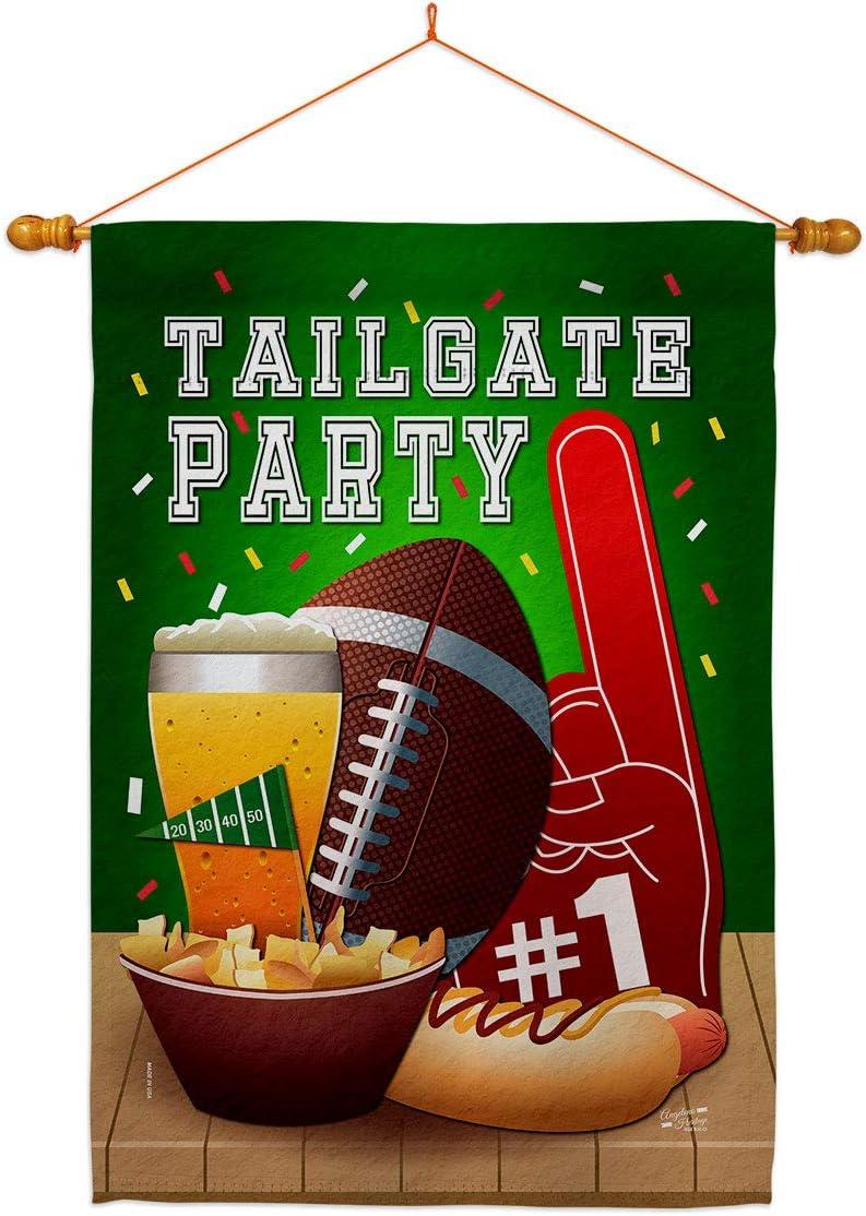 Angeleno Heritage Football Philadelphia Mall Tailgate Game Flag Set House Dowel Max 74% OFF Sp