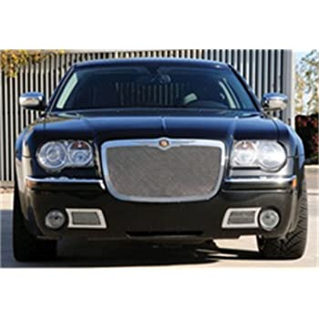 TRex Grilles 54489 Upper Class Small Mesh Stainless Polished Finish Replacement Grille for Chrysler Crossfire T REX