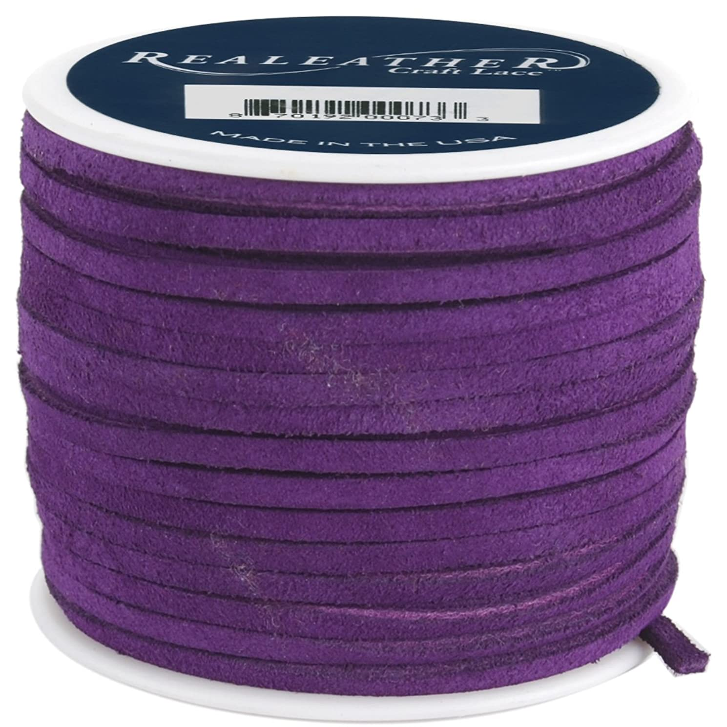 Realeather Crafts Suede Lace, Royal Purple
