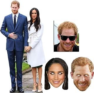 BundleZ-4-FanZ Fan Packs Prince Harry & Meghan Markle Cardboard Cutout Fan Pack - & Mask Bronze Royal Wedding 2018 Party Package