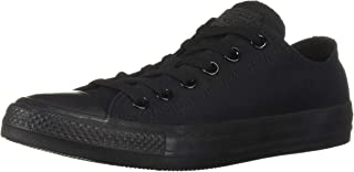 Converse Unisex Chuck Taylor All Star Low Top Black Monochrome Sneakers - US Men's 13 D(M) / US Women's 14.5 B(M)