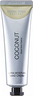 Natural Derma Project Coconut Ultra Moisture Hand Cream, 1.06 Fluid Ounces, Natural Ingredient Hand Moisturizer With Shea Butter