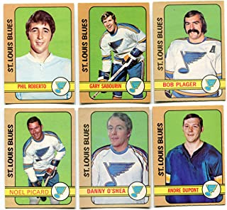 1972/73 OPC St. Louis Blues Lot of 11 Cards Garry Unger, Bob Plager, Andre Dupont, Phil Roberto, Gary Sabourin, Danny O'Shea, Noel Picard, Jack Egers, Jacques Caron, Frank St. Marseille,Barclay Plager