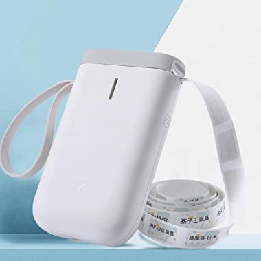 1 Pc Thermal Label Printer Portable Compact Printers Zero Ink Printing Technology Bluetooth Connection