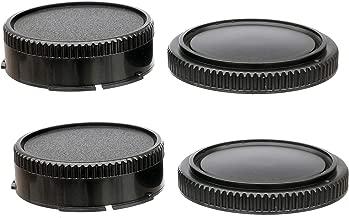 (2 Packs) Fotasy FD Mount Rear Lens Dust Cap Body Cover for Canon FD Camera Lenses, FD..