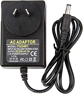 CFSadapter AC 100-240V Converter to DC 24V 1A Power Supply Adapter, 24W Switching Power Supply Charger DC Connector Jack ...