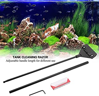 KAN-X Aquariums Fish Tanks Cleaner Algae Scraper Detachable Tank Razor Blade Glass, Aquarium Algae Cleaner - Metal Fish in Pet Supplies, Algae Scrubber, Cleaning Fish Aquarium