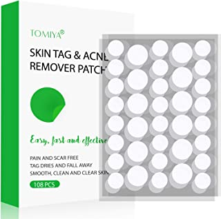 Skin Tag and Acne Remover Patches, 108 Top-Grade Skin Tag Removal Patches, Skin Tags Dry and Fall Away