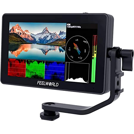 ANDYCINE A6 Plus 5.5Inch 4K HDMI Monitor with AC-M1 Cardiod Video Microphone