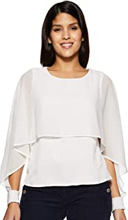 Annabelle By Pantaloons Women's Plain Regular fit Top