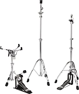 DW DWCP3000PK Drumset Hardware Pack with 3300 Snare Drum Stand, 3500 Hi-Hat Stand, 3700 Boom Cymbal Stand and 3000 Single ...
