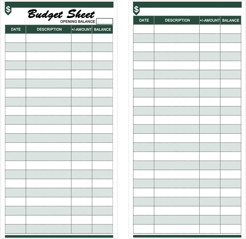 120 Pieces Expense Tracker Budget Sheets Money Trackers for Cash Budget Binder Envelopes Inserts and Budget Planner(6.42 x 3.15 inches) (Green) : Office Products