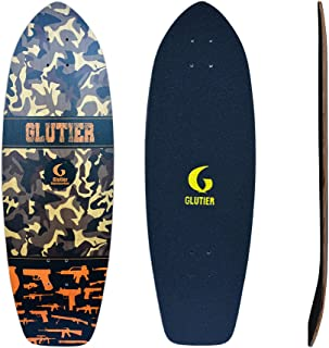 Glutier Surfskate Deck Perfect for Surf Skate Truc...