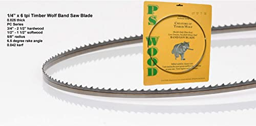 """high quality Timber 2021 Wolf Bandsaw Blade online 1/4"""" x 133"""", 6 TPI sale"""