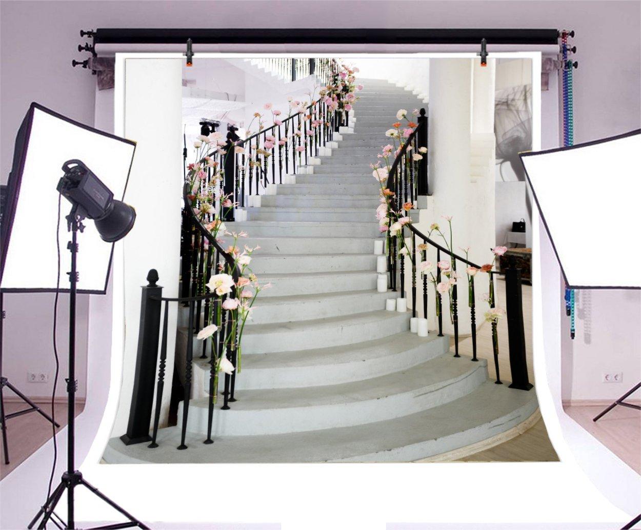 LFEEY 5 x 5 ft boda Birdal Ducha fondos para fotos niñas adultos niños retrato foto bola flores decorado escalera escaleras fotografía fondo foto estudio Props: Amazon.es: Electrónica