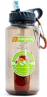 Epic Nalgene OG Outdoor | Water Filtration Bottle | Wide Mouth 32 oz | American Made Bottle | USA Made Filter Removes 99.9999% Contaminants Bacteria Virus Giardia Cryptosporidium Chlorine (Woodsman)