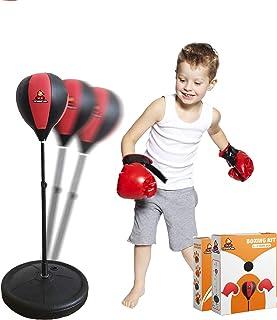 تينكو جيه آر حقيبة ملاكمة للأطفال مع حامل / ارتفاع قابل للتعديل (3-10 أعوام) - تتضمن قفازات ملاكمة للأطفال + مضخة هواء - ل...