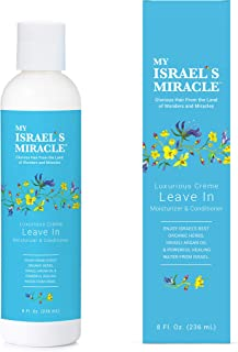 Herbal Leave In Conditioner – My Israel's Miracle – Luxurious Cream Leave In Moisturizer and Conditioner – Powerful Organic Haircare Herbs from Israel