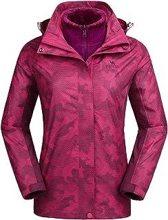 3-in-1 Women's Ski Jacket Waterproof Snowboard Mountain Fashion Jackets Winter Coat with Warm...