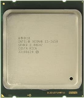 Intel Xeon Eight-Core E5-2650 2.0GHz 8.0GT/s 20MB LGA2011 Processor without Fan, Retail BX80621E52650