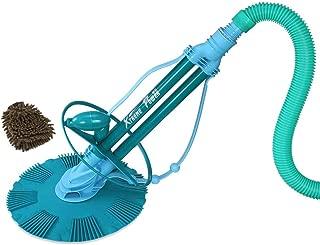 XtremepowerUS 75037 Pool Cleaner, Climb Wall Automatic Suction Vacuum-generic (Complete Set) w/Bonus: Premium Microfiber Cleaner Bundle