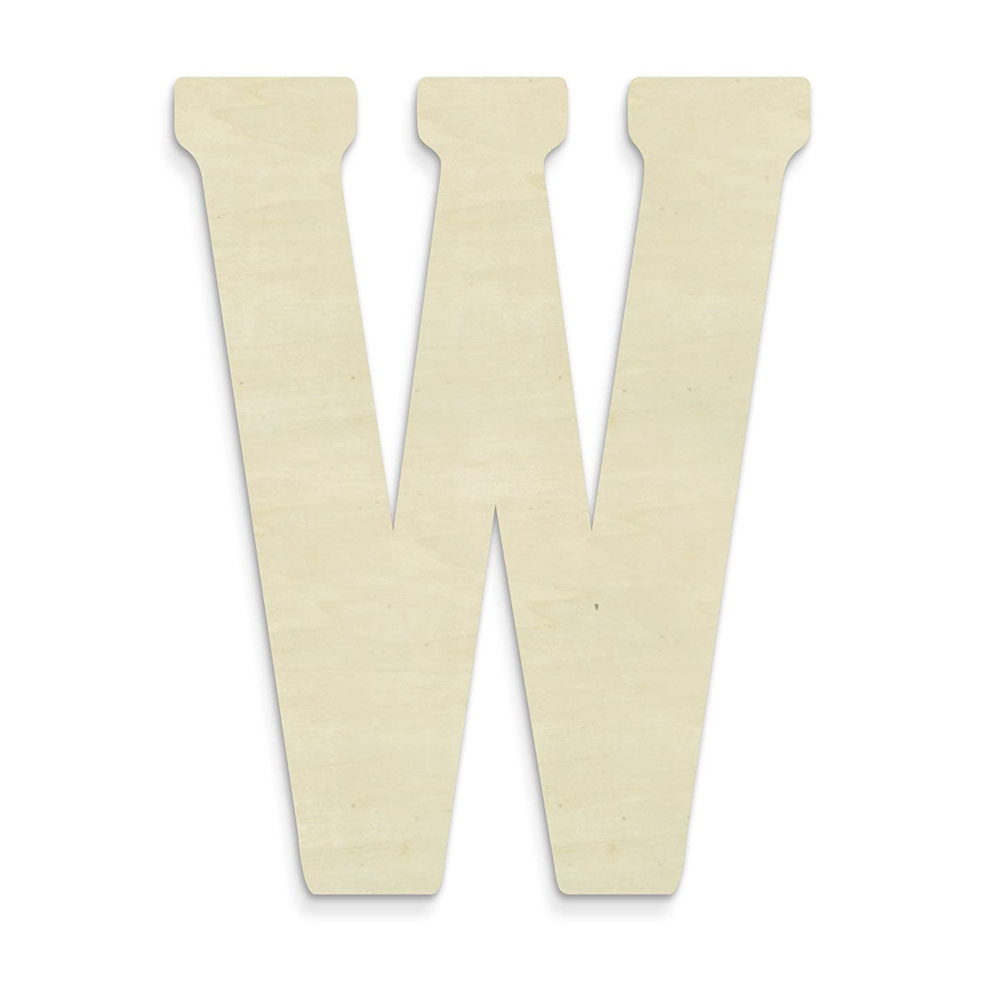 UNFINISHEDWOODCO 23-Inch Unfinished Wood Letter, Large, Letter W