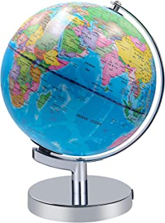 Illuminated World Globe for Kids, Educational Globe with Stand Built in LED Night Light Earth Map and Constellation View, ...