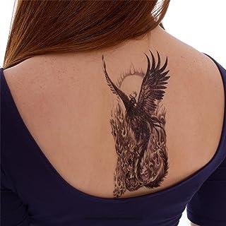 2 x Phoenix Tattoo - Vogel Flammen - Temporary Haut Tattoo A