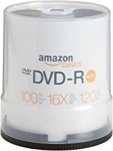 AmazonBasics 4.7 GB 16x DVD-R (100-Pack Spindle)