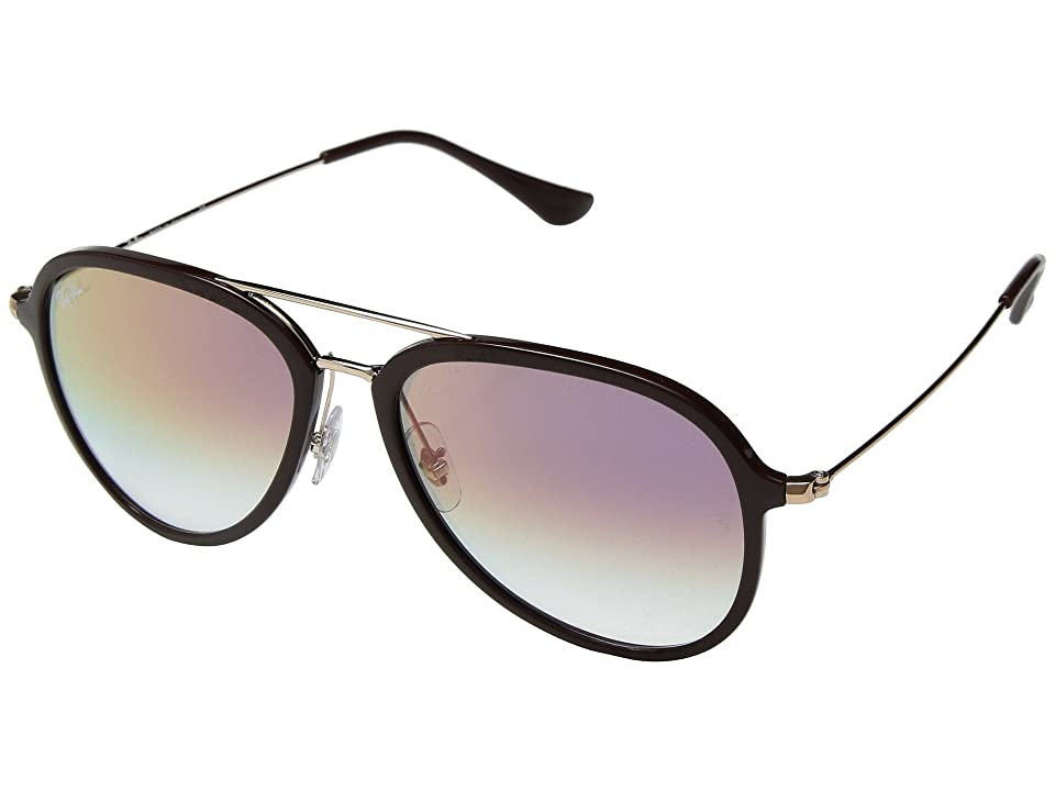 Ray-Ban RB4298 57mm (Chocolate/Clear Violet Gradient) Fashion Sunglasses