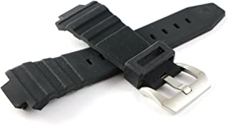 Swiss Legend 30MM Black Silicone Watch Strap Stainless Silver Buckle fits 46mm Expedition Watch