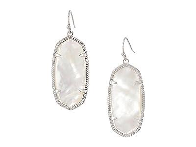 Kendra Scott Elle Earring (Rhodium/Ivory Mother-of-Pearl) Earring