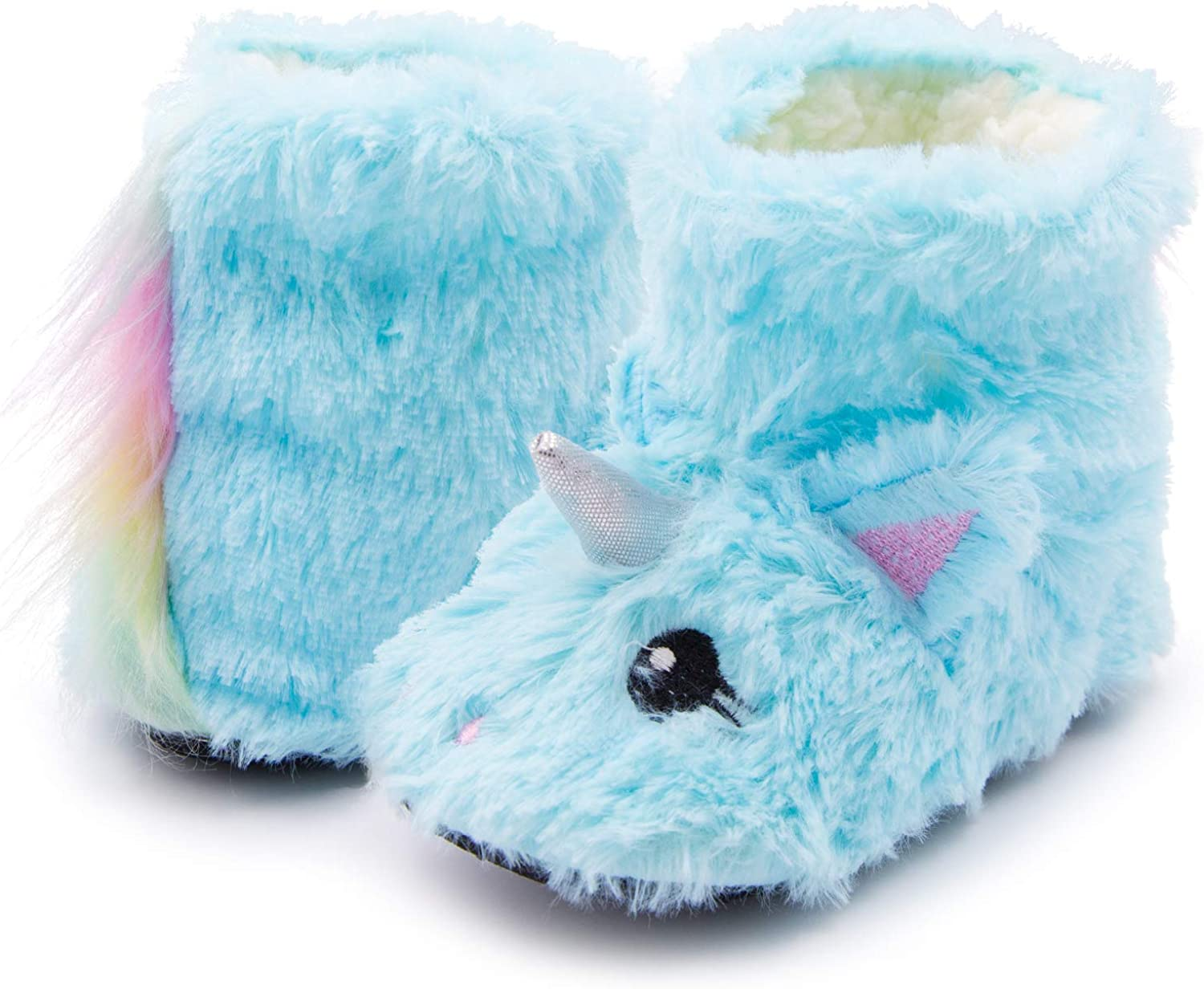 Unicorn Girls Max 74% OFF Slippers Kids Fluffy Fuzzy P Free shipping / New Warm Booties
