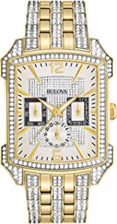 Bulova Men's Crystal Collection Two-Tone Stainless Steel Bracelet Watch