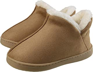 Sponsored Ad - ChayChax Kids Indoor Outdoor Slippers Micro Suede House Shoes Boys Girls Winter Warm Fluffy Plush Slipper B...