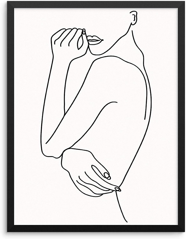 Max 70% OFF Abstract Woman's Body Shape Wall Decor Po Print Line Drawing supreme Art